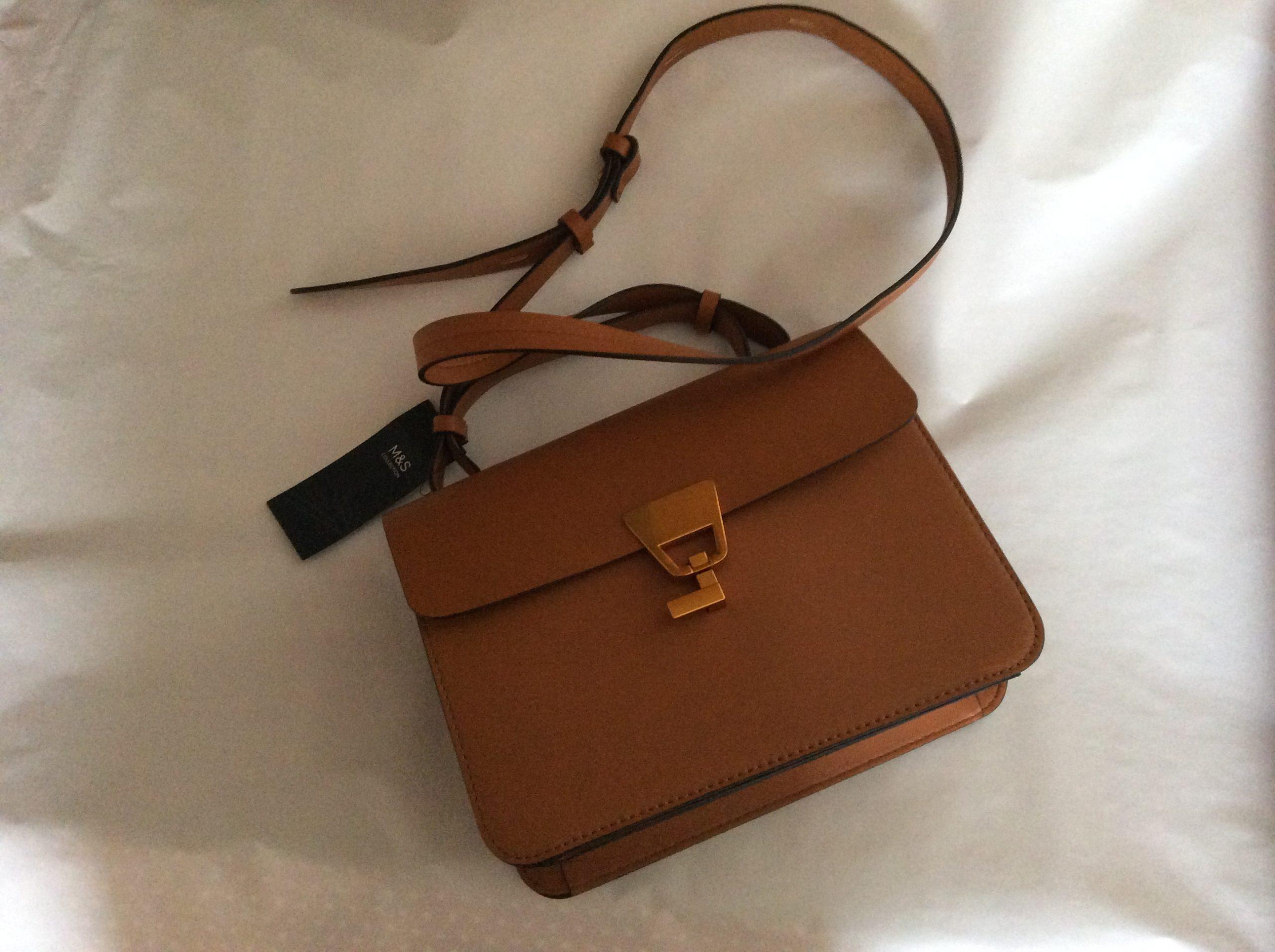 M and S tan handbag