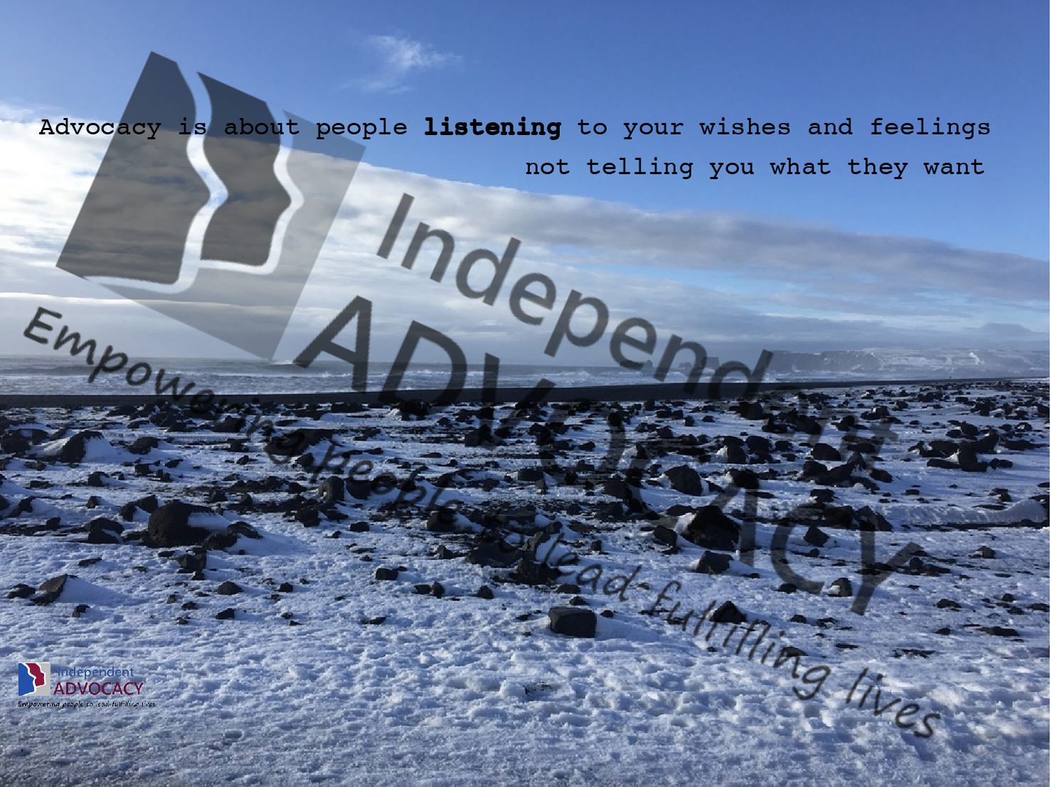 Advocacy Is About Listening wallpaper